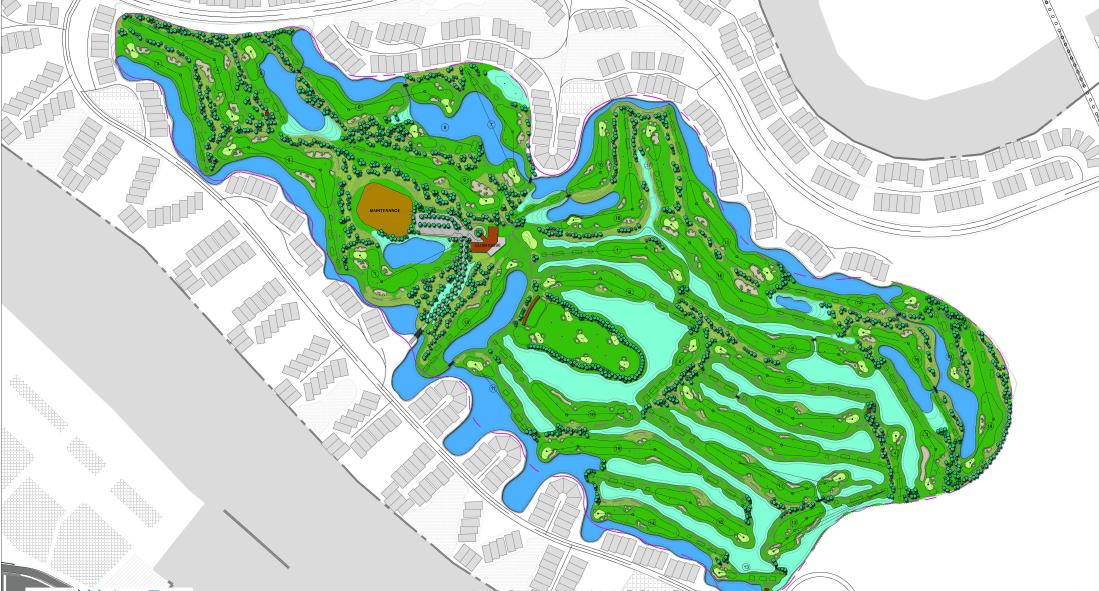 vinpearl golf club haiphong course map